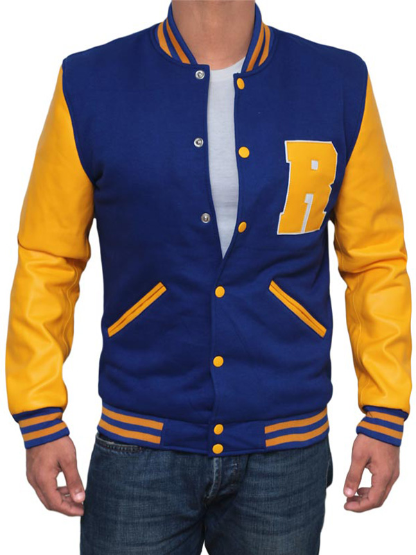 Riverdale KJ APA R Logo Archie Andrews Letterman Bomber Varsity Giacca