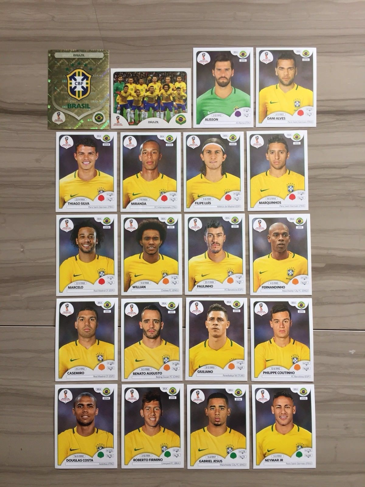 Panini Fifa Soccer World Cup Russia 2018 Full Set Brazil Team   352-371  Discount Price 20.00 Free Shipping Buy it Now 66221a36e