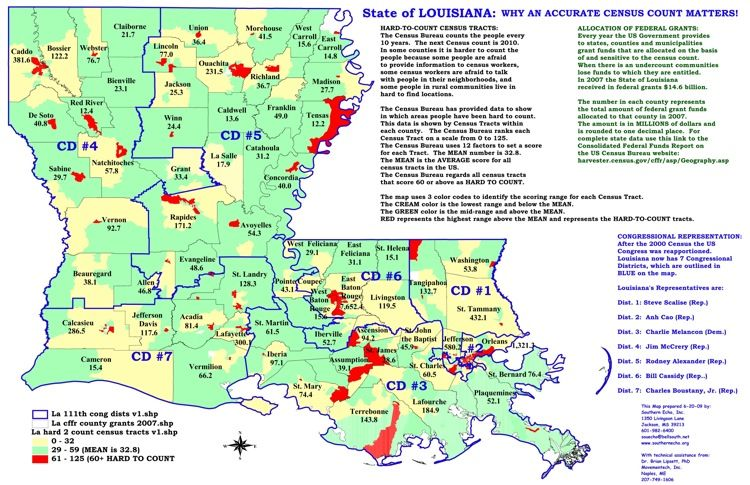 Louisiana Map with Cities Click here for a selection of census