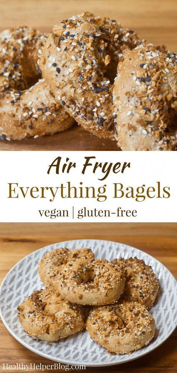 Vegan Everything Air Fryer Bagels [glutenfree + oilfree