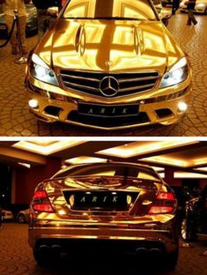 10 Of The Weirdest Materials Ever Used To Make Cars Gold Mercedes Expensive Cars Gold Car