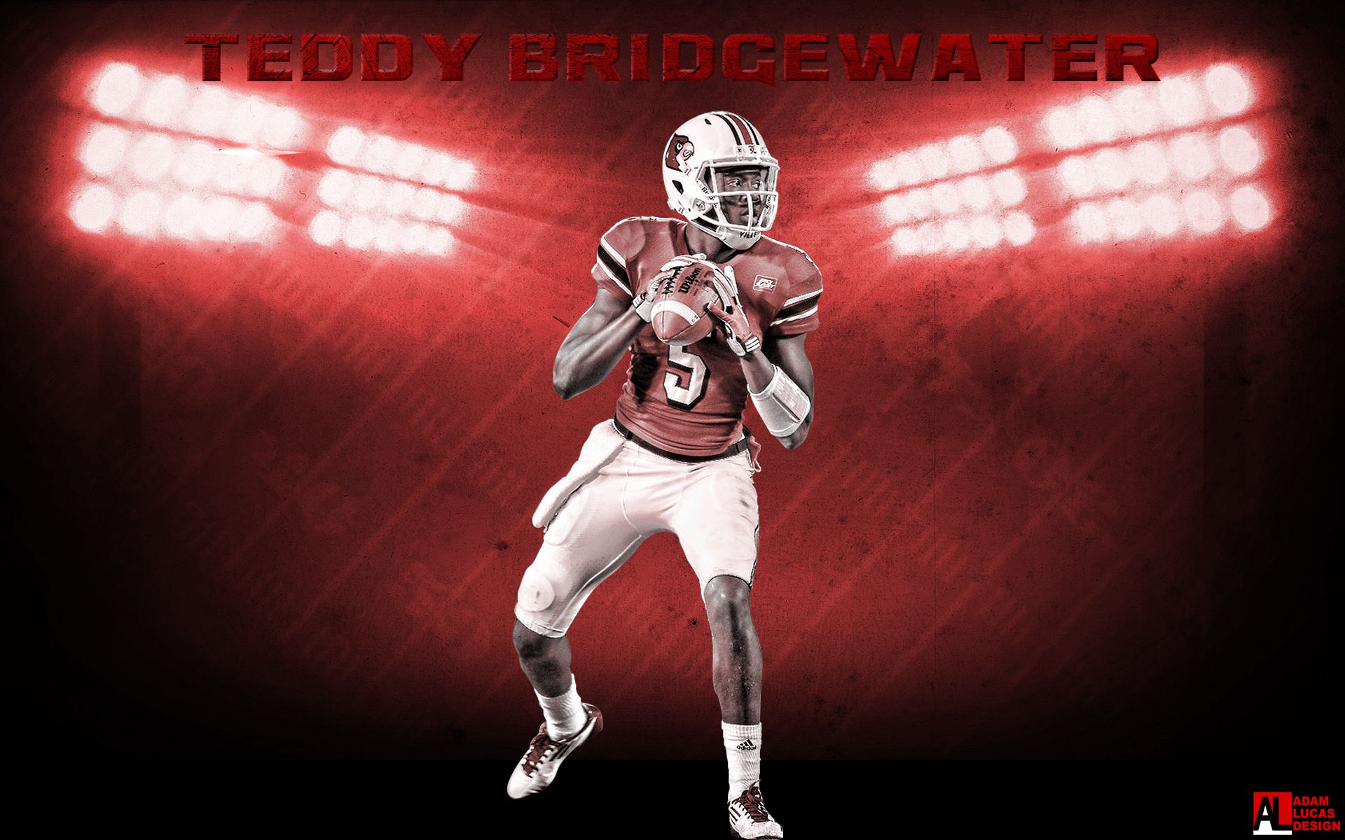 Teddy Bridgewater Wallpaper Teddy Bridgewater Louisville Cardinals Louisville Cardinals Football