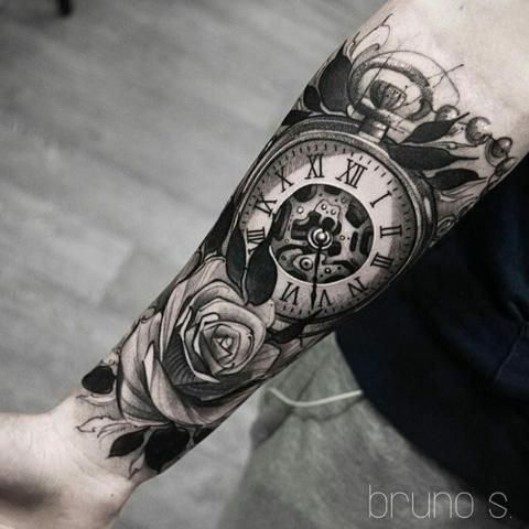 Clock Tattoos Clock Tattoo Sleeve Watch Tattoos Rose Tattoo Sleeve