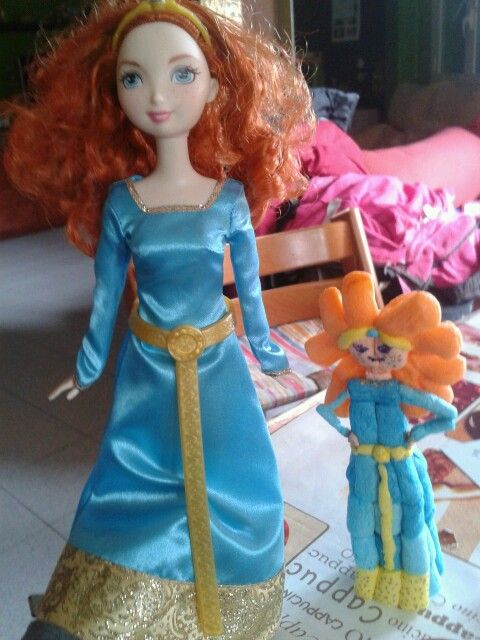 Princesa Merida (Brave) feta amb playmais