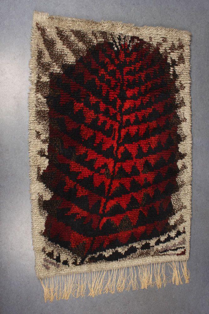 Vtg Burning Forest Kirsti Ilvessalo Wool Wall Rya Rug Finnish Modern Art Design Rya Rug Rugs Scandinavian Rug