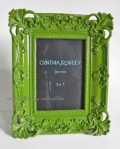 Cynthia Rowley Modern Baroque Photo Frame In Green Nest