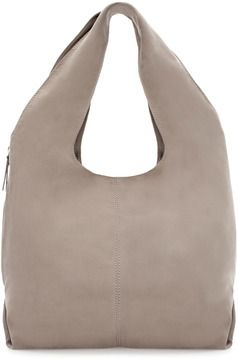 Nubuck Leather Maxi Bucket Bag