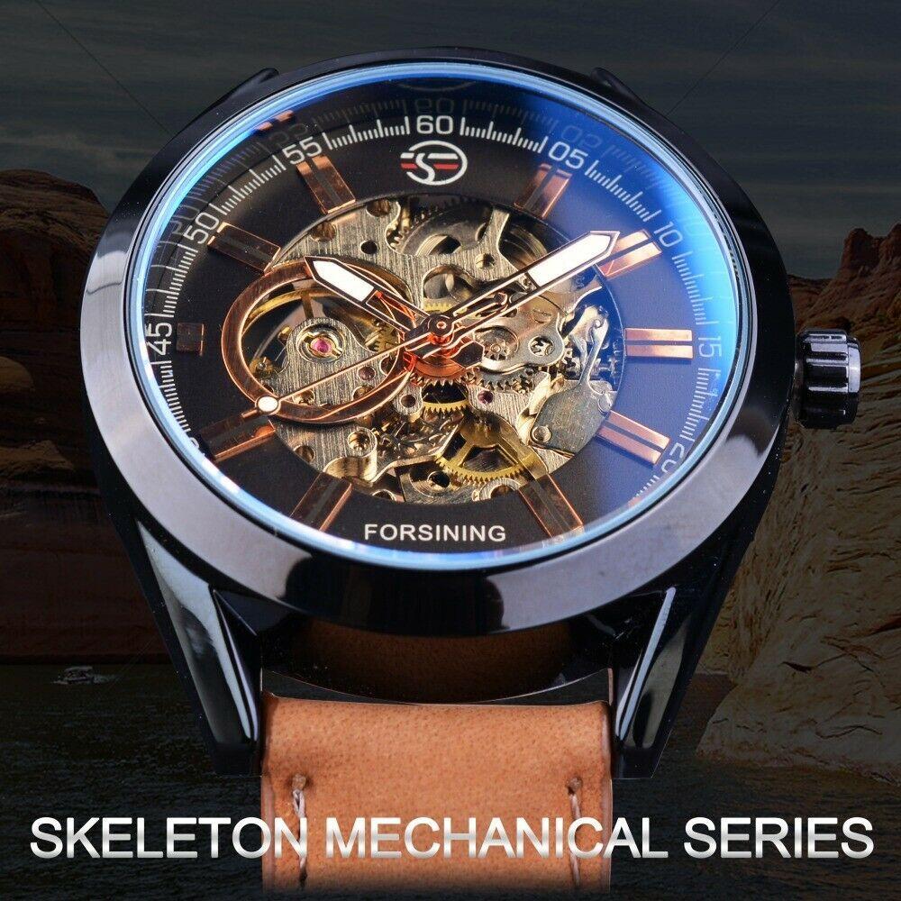 Reloj Para Hombre Deportivo Mecanico Cuero Genuino Lujo Skeleton Forsining Forsining Luxurydressstylescasualdressformallux En 2020 Relojes Para Hombre Reloj Hombres