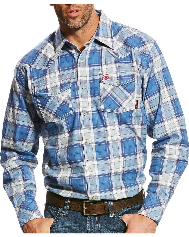 Ariat Men's FR Permian Retro Long Sleeve Snap Work Shirt