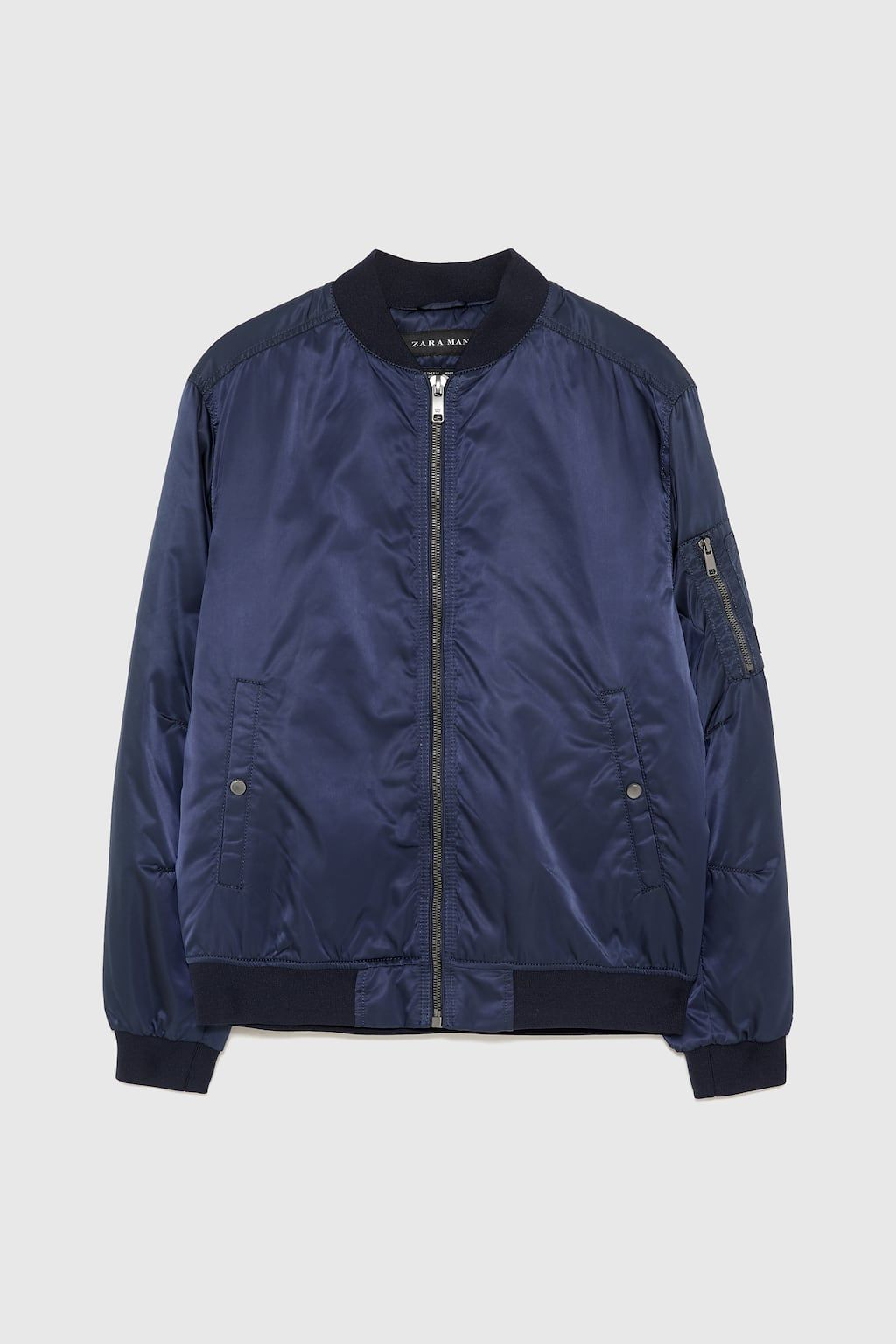 Image 6 Of Quilted Bomber Jacket From Zara