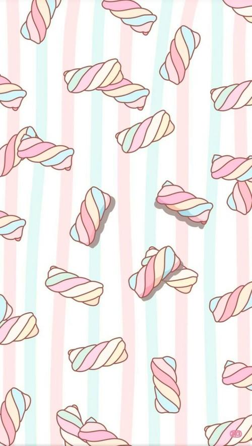 art, background, cartoon, colorful, cute art, design, drawing, food, illustration, kawaii, marshmallow, marshmallows, mint, pastel, pattern, patterns, pink, sugar, sweets, texture, wallpaper, wallpapers, we heart it, backgrounds, pink background, wallpap