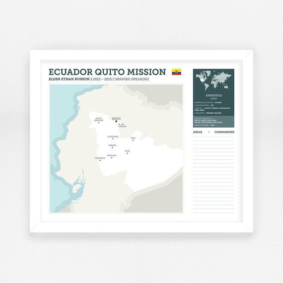 LDS Missionary Map - Digital File || LDS Mission Map || Custom ...