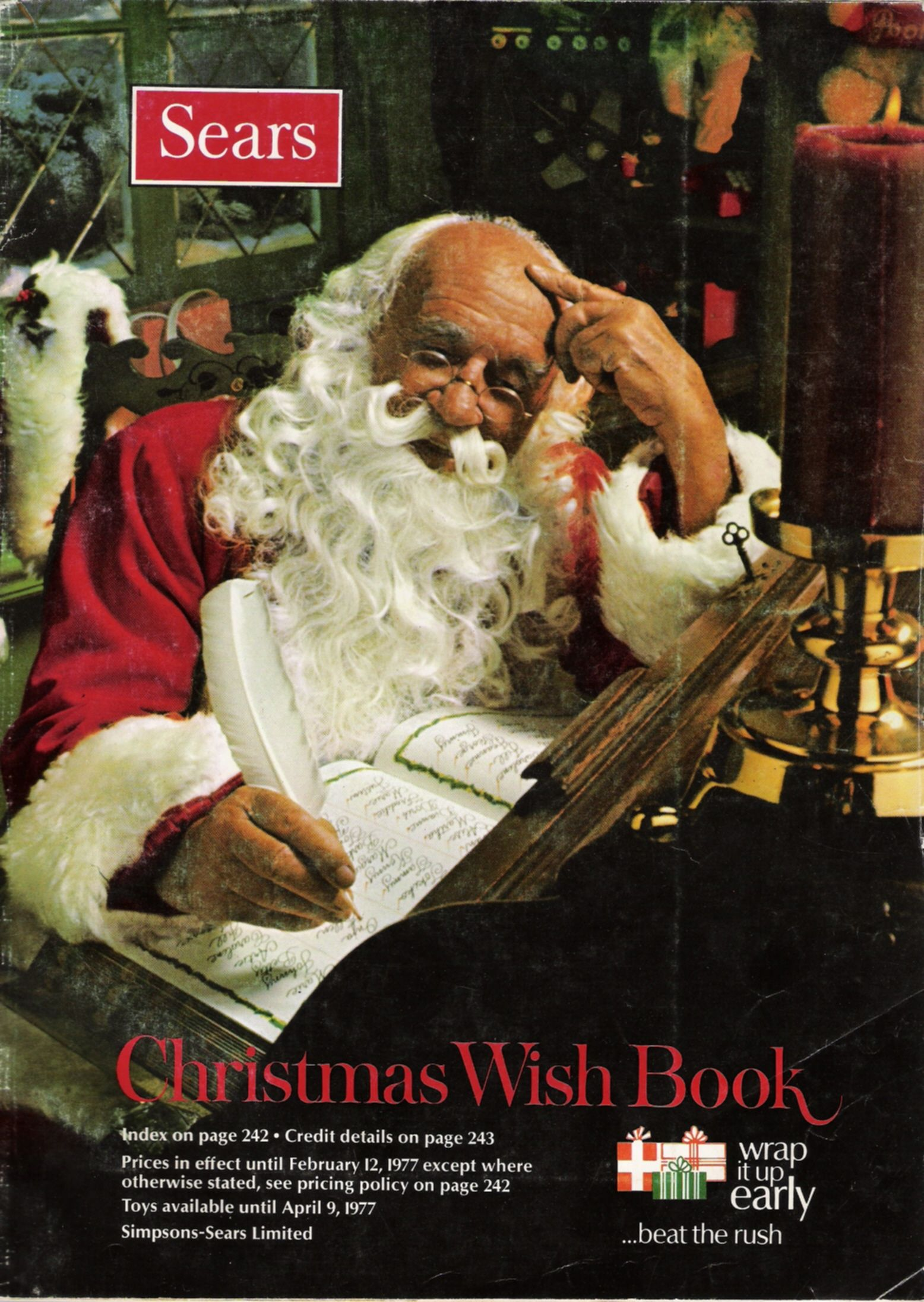 the Sears Christmas Wishbook....oh how my sister and I would ...