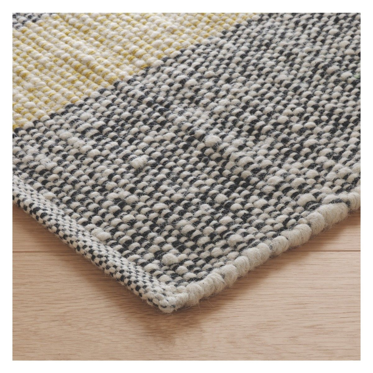 Brecan Extra Large Grey Wool Rug 200 X 300cm Rugs