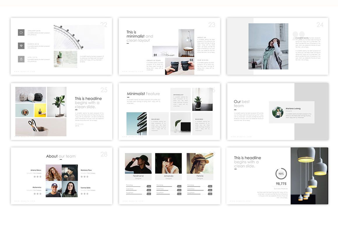 Floaty Minimalist Powerpoint Template 75224 Templates