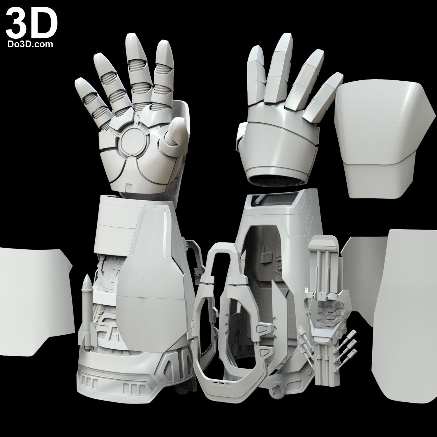 3d Printable Iron Man Mark Xlii Model Mk 42 Gauntlet Hand Glove Forearm With Missile Rocket Shooter Print File Format S Iron Man Hand Iron Man Iron Man Cosplay