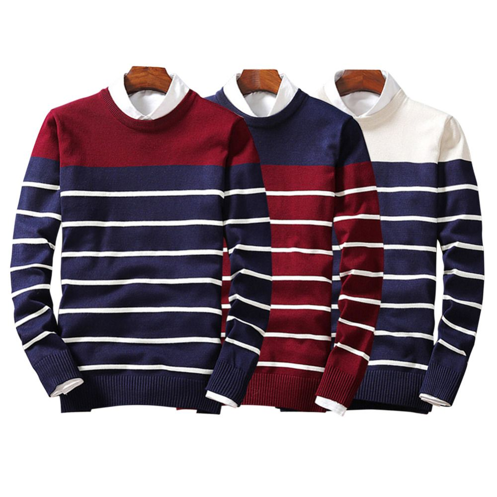 SALE 2017 Autumn Winter NEW Men Sweater Striped Pull Homme ...
