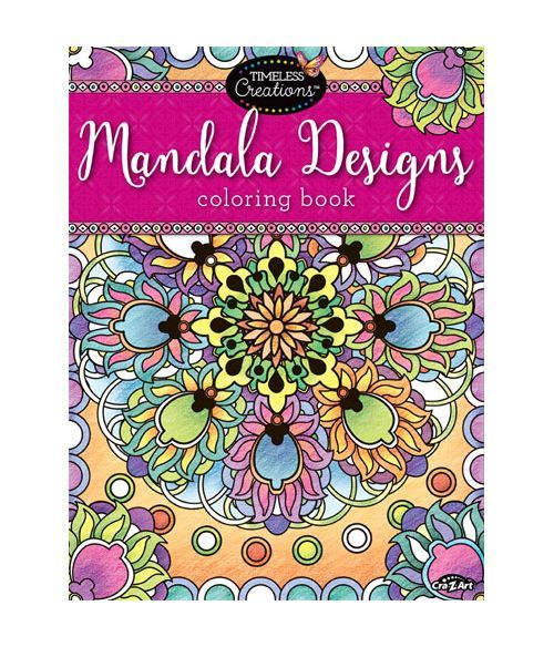 Timeless Creations, Cra-Z-Art, Adult Coloring Book - Mandala Designs ...