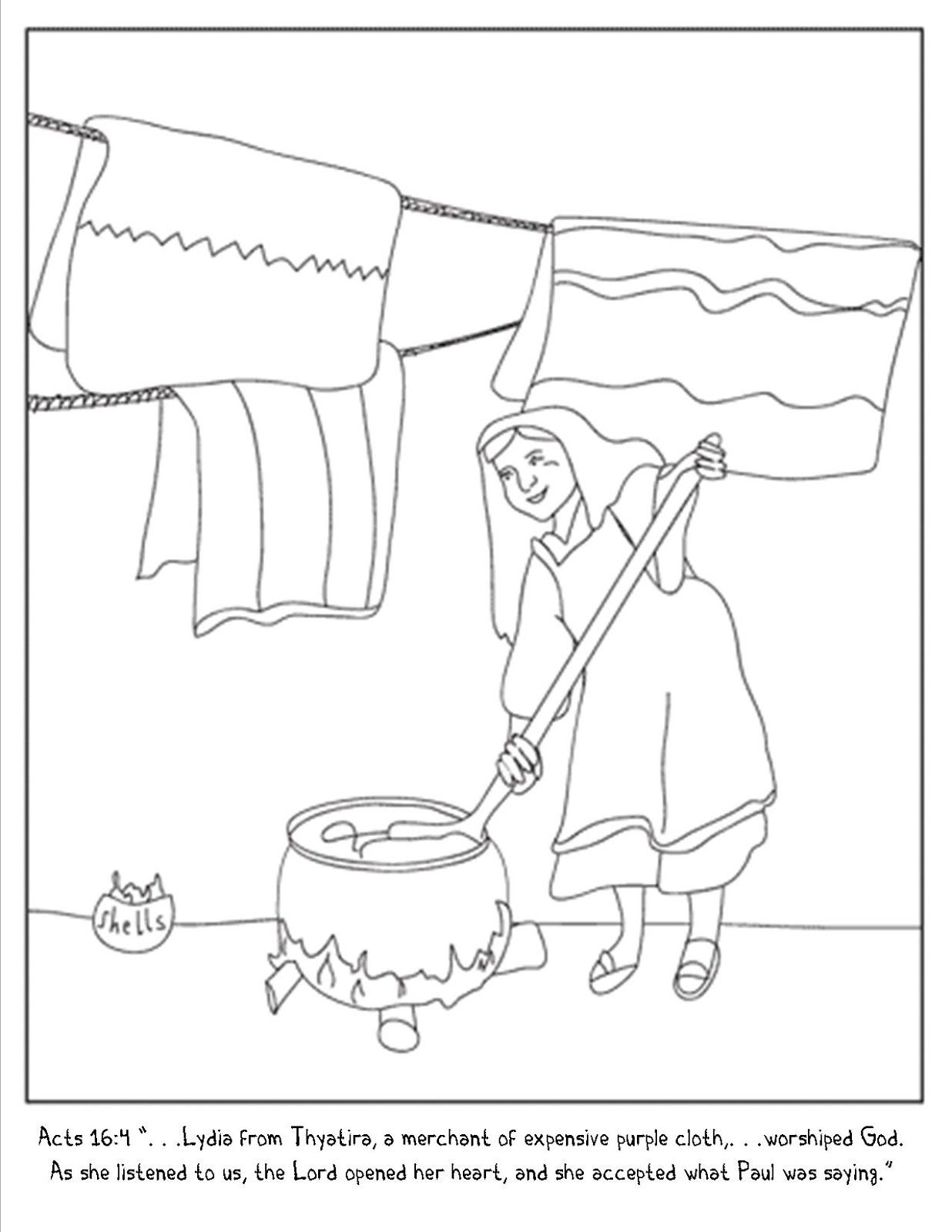 Lydia And Paul Coloring Page Google Search Paul Bible Bible