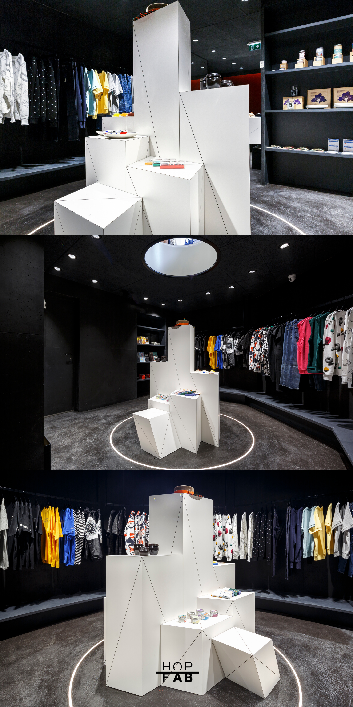 Presentoir Modulable Sur Mesure Hopfab Magasins Concept Concept Store Stores