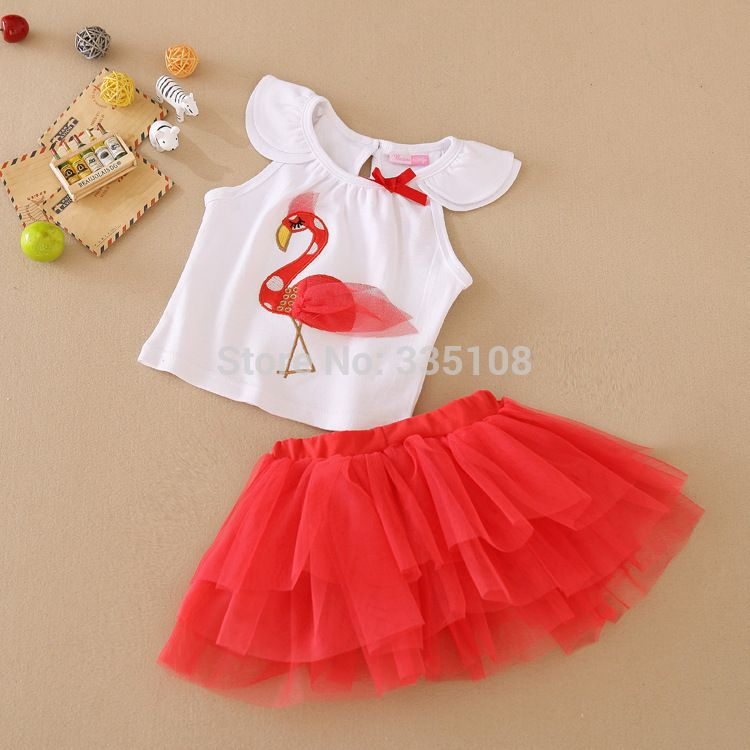 Pleated Skirt Set Easter Girl Outfit 3Pcs Suit Cartoon Rabbit Short Sleeve Top