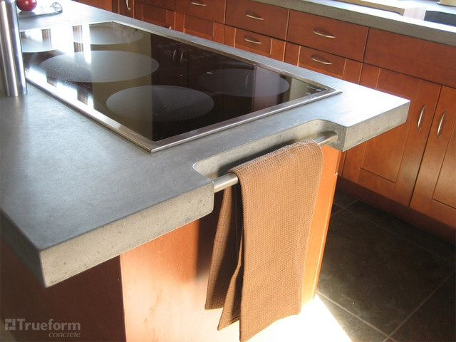 Towel Rack Kitchen Remodel Countertops Concrete Kitchen