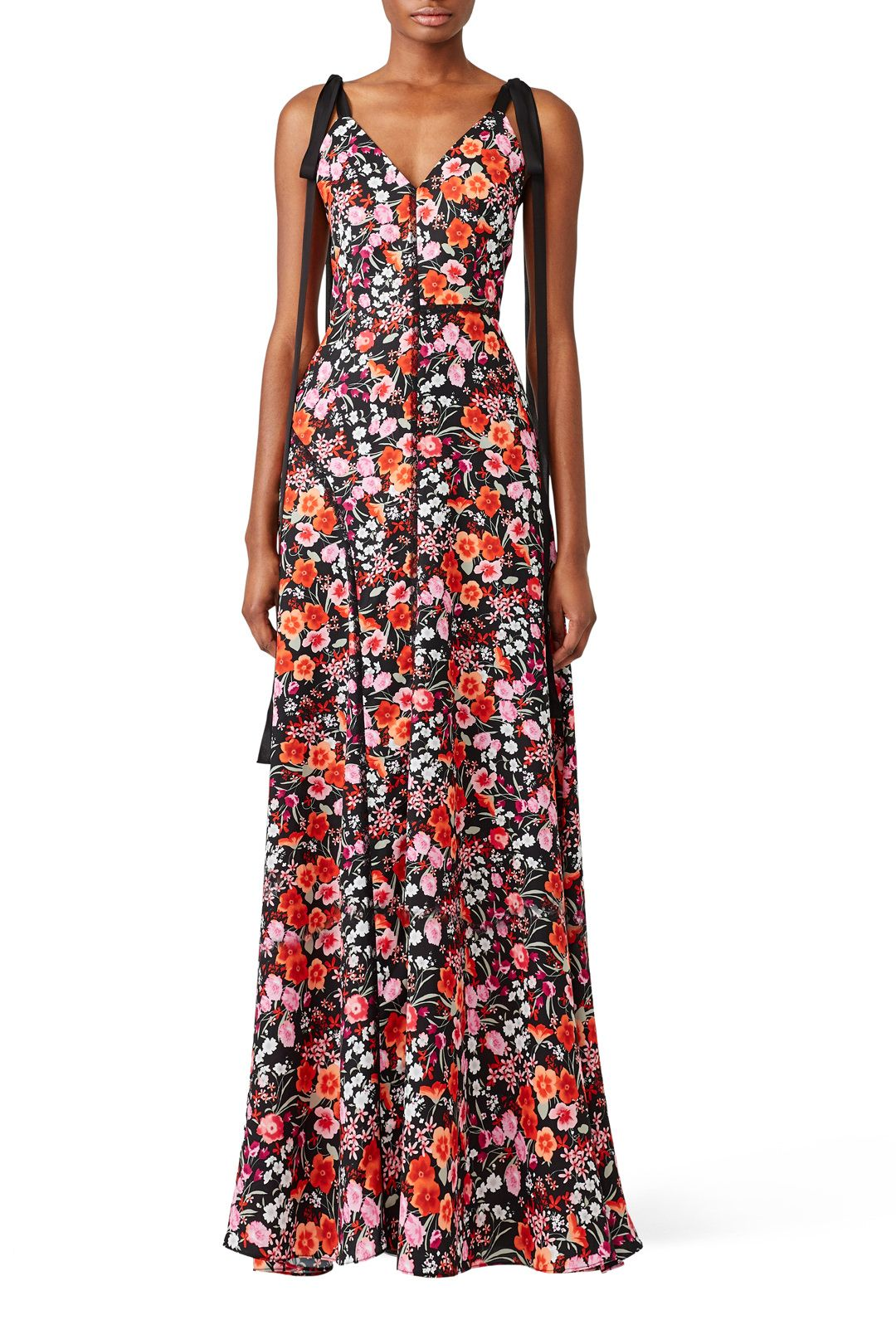 Rent Multi Flower Print Maxi By Goen J For 120 135 Only At Rent The Runway Pink Print Dress Dresses Printed Maxi