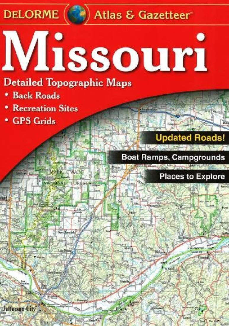 Missouri Atlas And Gazetteer By Delorme Road Atlas California Map Topographic Map