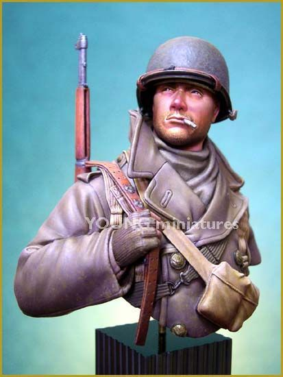 DIY TOYS Resin Kits  1/ 10 US SOLDIER ARDENNES 1944 bust   Unpainted Kit Resin Model Free Shipping