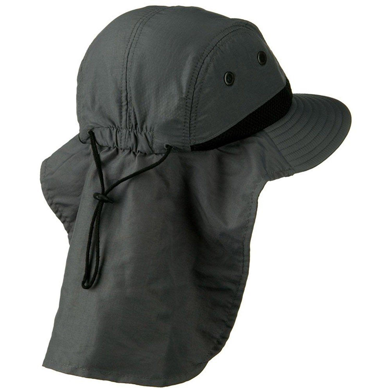 414bf746335 Dark Gray Outdoor Sun Flap Hat - CQ11KT8C86J - Hats   Caps