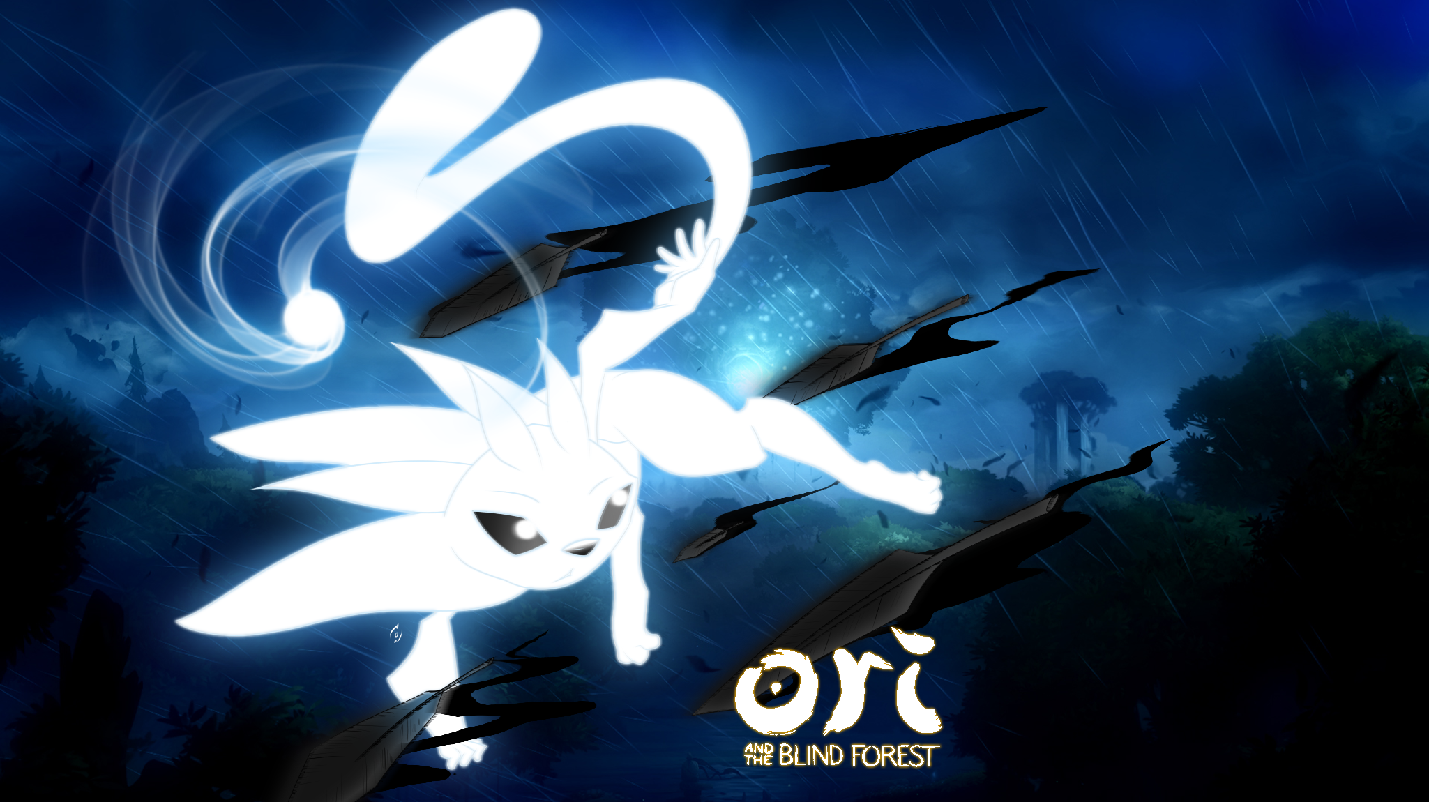 Ori And The Blind Forest By Akaonic On Deviantart Forest Wallpaper Wallpaper Adventure Rpg