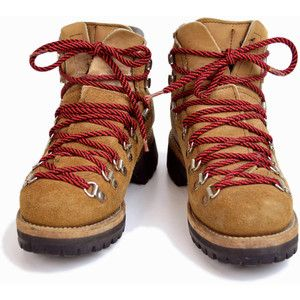 Lumberjack boots with red laces