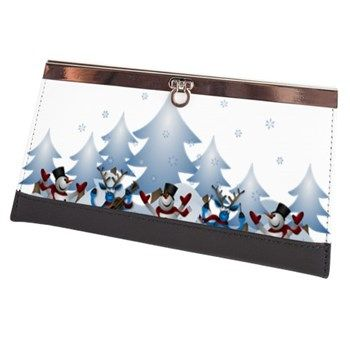 Funny Snow Dance Clasp Wallet