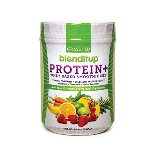 Blenditup Organic Grass Fed Whey Protein Flavorless Smoothie Mix Powder That Is 100 Kosher Gluten Fre Best Protein Powder Whey Protein Smoothies Best Protein