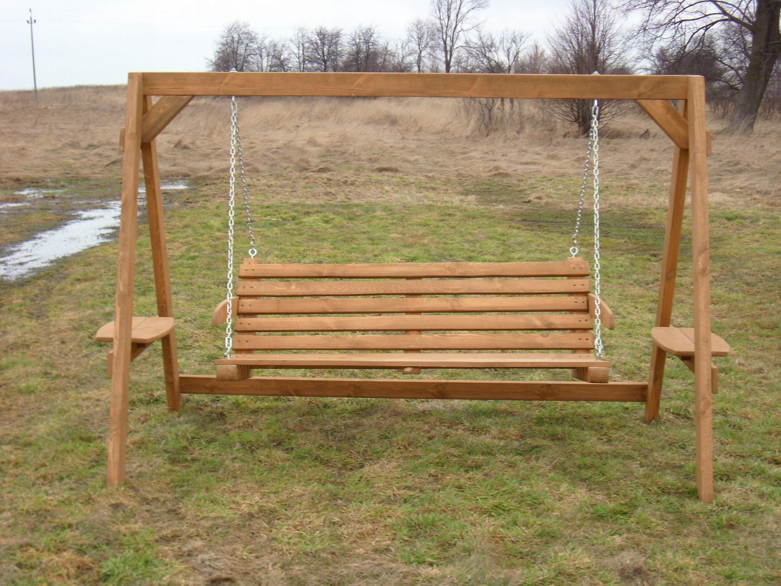Hustawka Ogrodowa Z Drewna Siedzisko Bujak Diy Home Improvement Porch Swing Home Diy