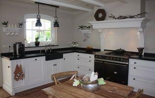 Massief houten keuken op maat -Capelle