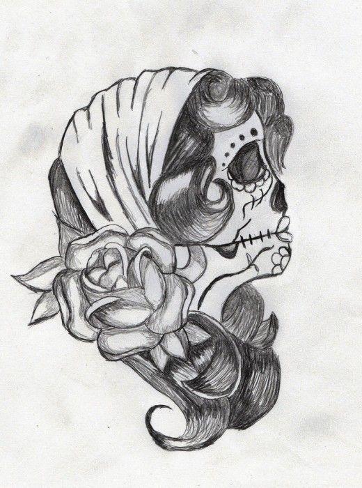 sugar skull tattoo tattoed