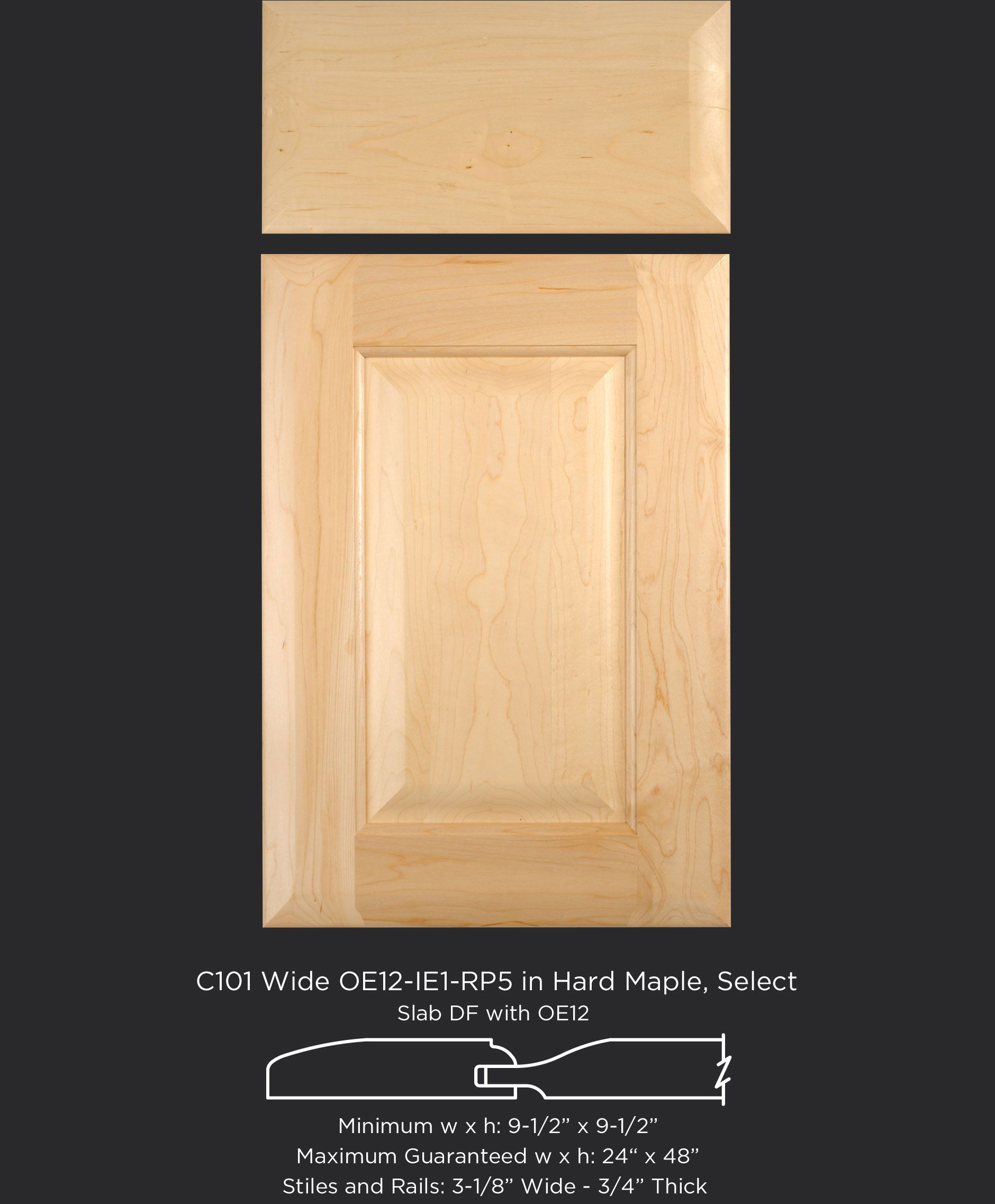 Hard Maple Cope And Stick Cabinet Door With Wide 3 18 Stiles And