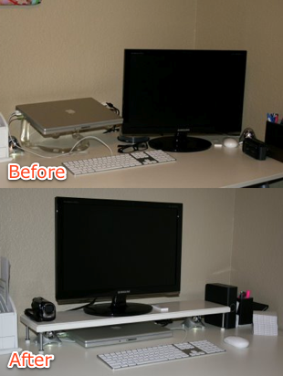 Diy Tv Or Monitor Stand From Door Stoppers Diy Ideas