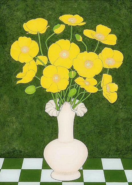 Geoffrey Jones    Yellow Poppies    20th century