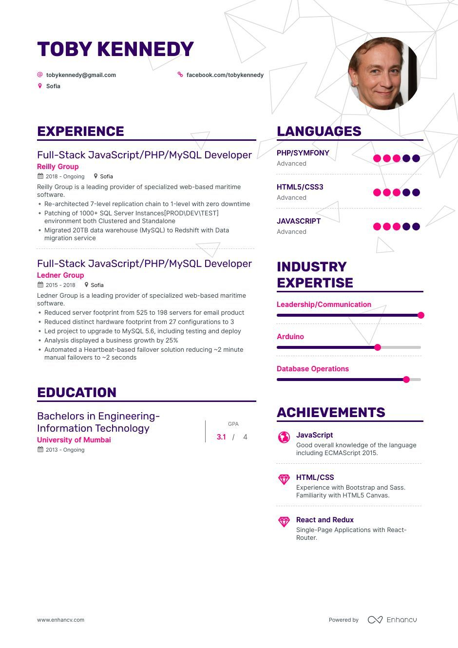 Mysql Resume Example And Guide For 2019 Resume Examples Resume Template Word Resume Words