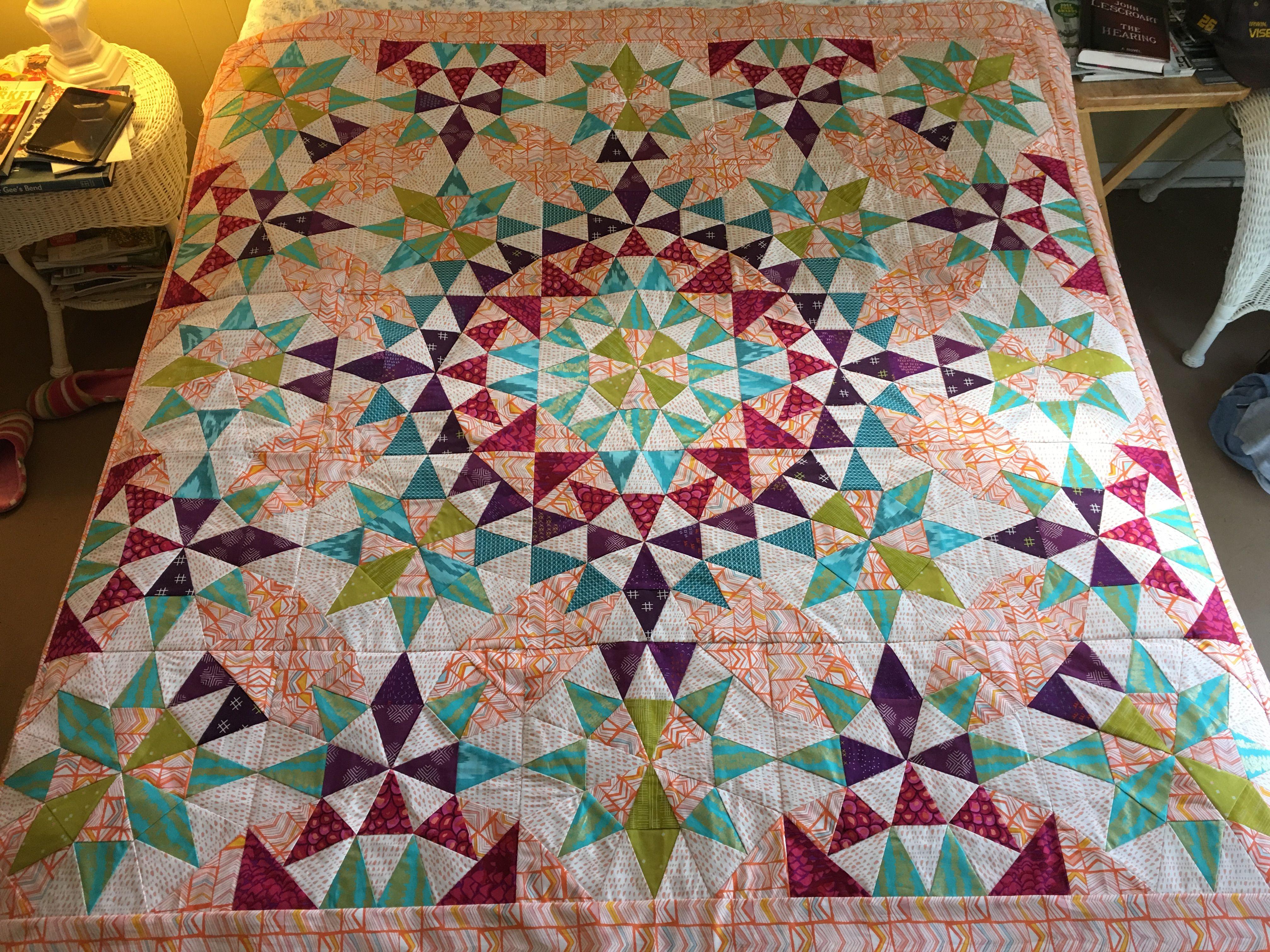 Grandma S Surprise Morning Star Quilt Quilts Kaleidoscope Quilt Star Quilt Patterns