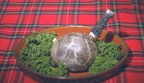 The Scottish favorite....Everything else from a sheep that has not found a home yet. The lungs, heart, stomach and the sac to stuff it in with the three staples of Scottish culinary seasonings: Oatmeal, salt and pepper! Surround it with Kale and place on a fine tartan cloth. Stab it with William Wallace's dagger and 'ere ye gooh! If it's not Scottish it's edible!