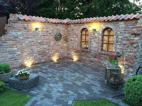 Bildergebnis f r steinmauer sichtschutz outdoor kitchens for Jardineria al aire libre casa pendiente