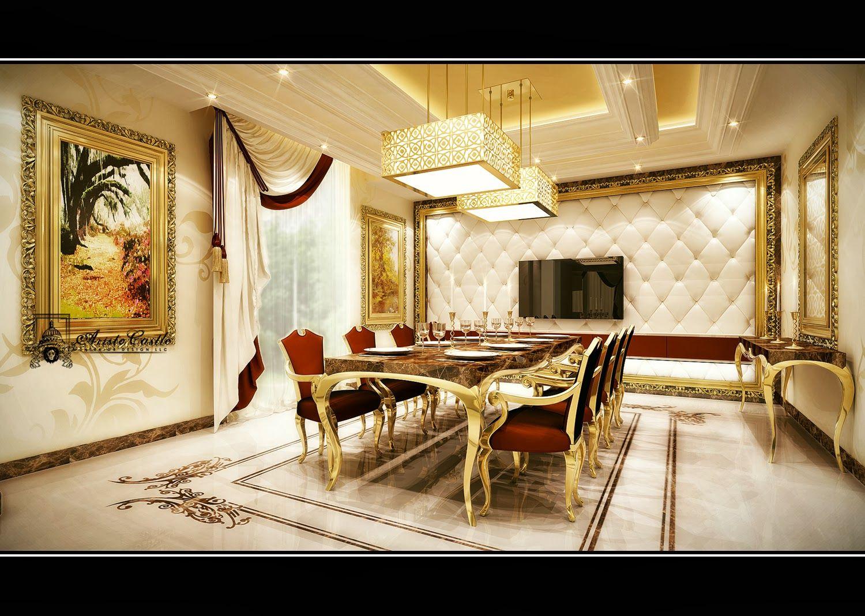 Aristo Castle Interior Design | Luxury DIning Room | Dubai ...