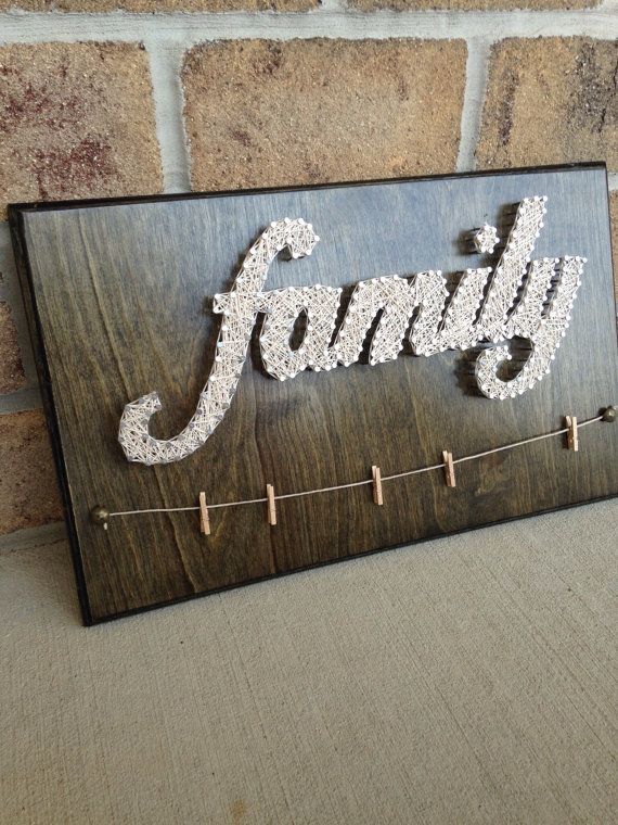 Custom Made to Order Family String Art with hangers for