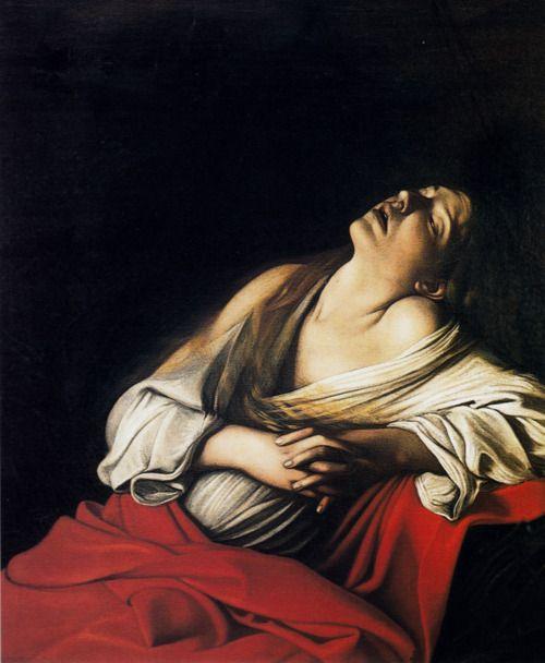 Caravaggio, Mary Magdalen in Ecstasy, 1606.