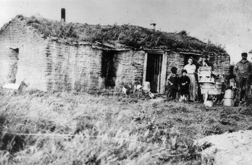 William Kutz S Sod House Homestead At Or Near Unity