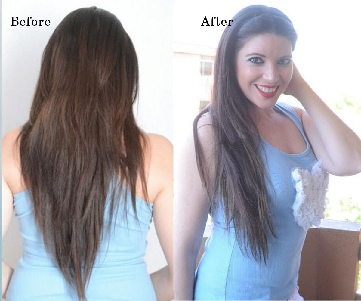 Amazing beauty hair extensions clip in hair extensions balayage