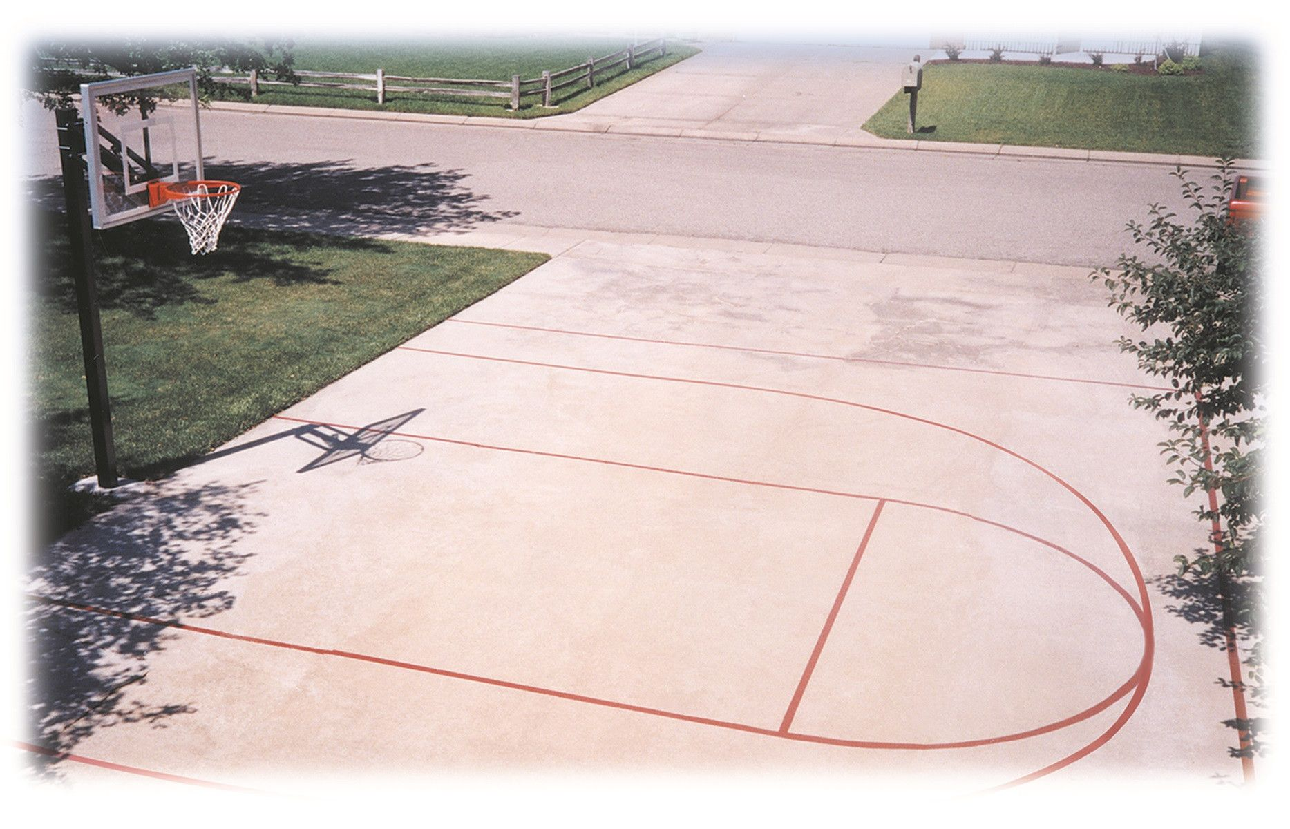 Tips To Make Your Own Basketball Court Stencils Layouts Dimensions Basketball Floor Basketball Court Size Basketball Court Backyard